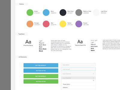 UI Library & Guidelines 1.0 form button web ui interface dropdown typography lendinghome design