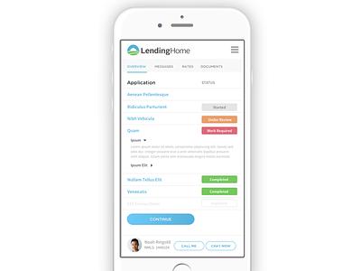 Mobile Dashboard status ui mobile lending design dashboard clean borrower