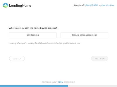 Get a Rate  web ui rate mortgage lendinghome lending flow design clean