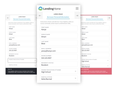 Mortgage Application / Mobile borrower simple design clean ui ux application mobile lending mortgage