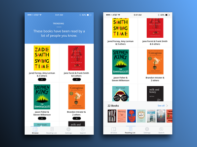 Goodreads App Redesign ios clean list read app ui design redesign books goodreads