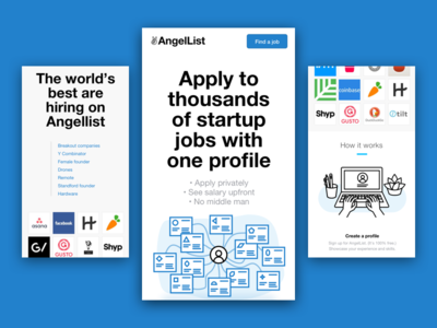 Angellist Landing Pages Mobile
