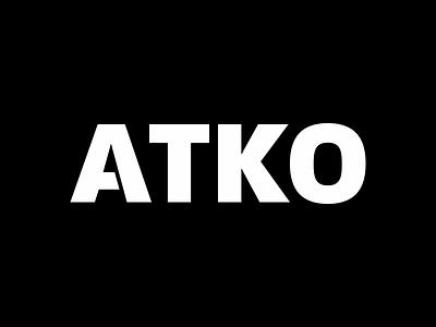 Atko Logo for Okta black and white clean wordmark white black logo okta