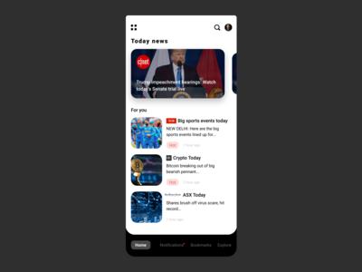 News app concept
