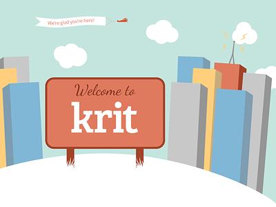 Welcome Illustration illustration web design welcome sign