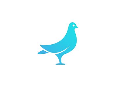 Logo Concept mark branding pigeon gradient brand logo bird
