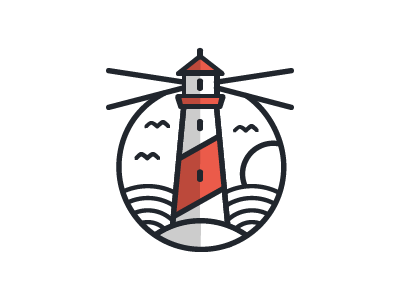 Lighthouse Concept nautical icon lighthouse branding logo