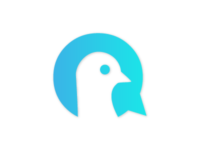 Pigeon Final Logo gradient medical healthcare bird pigeon icon branding logo