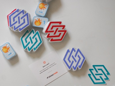 Stickers! merch branding logo emoji fire stickers
