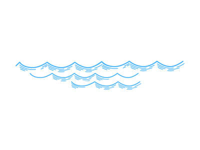 Waves illustration sea nautical waves branding