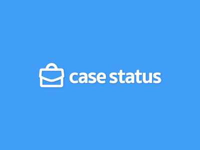 Case Status Branding briefcase law firm attorney lawyer legal branding logo