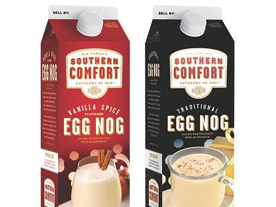 SoCo Eggnog Carton Redesign holiday eggnog carton packaging drink graphic design design whiskey southern comfort