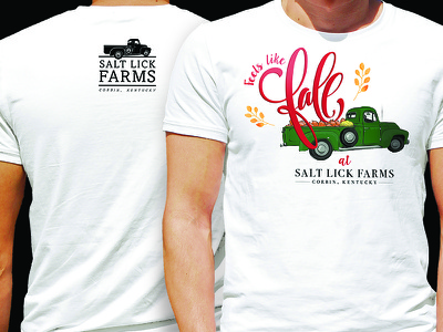 Salt Lick Farms Tee t-shirt vintage graphic design graphic farm design logo