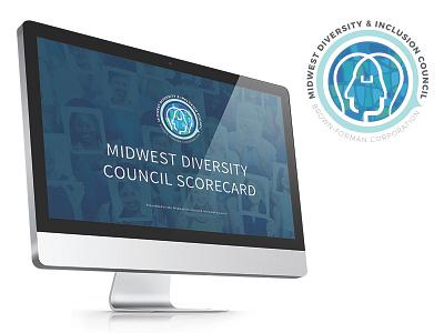 Midwest Diversity Logo + Pres powerpoint presentation illustration logo graphic design design graphic