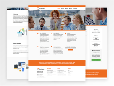 QualApps - Website Redesign consulting technology orange ui ux redesign qualapps website