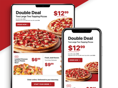 Pizza Promotional Newsletter