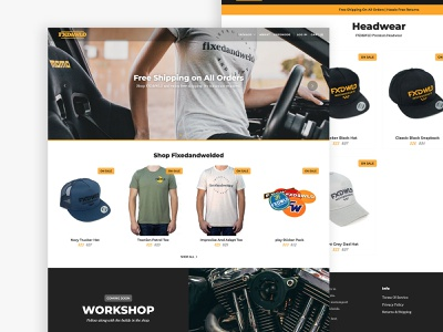 FXD&WLD Motorsports - Homepage clean orange motorsport mobile responsive typography ui ux modern website