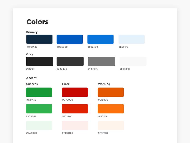 Color Palette - Styleguide orange green red scheme colorscheme color palette colors palette colors blue clean design website modern ux ui