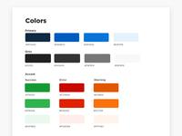 Color Palette - Styleguide