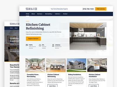 Solid Cabinets Website merriweather react purple desktop orange blue clean website mobile modern ux ui contractor