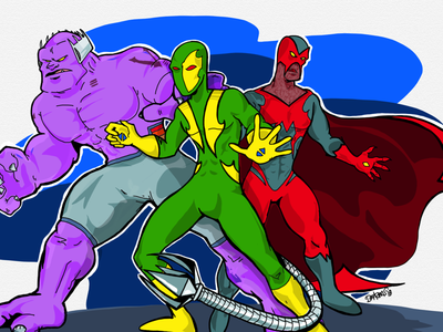 Main three characters of Alienox Comic