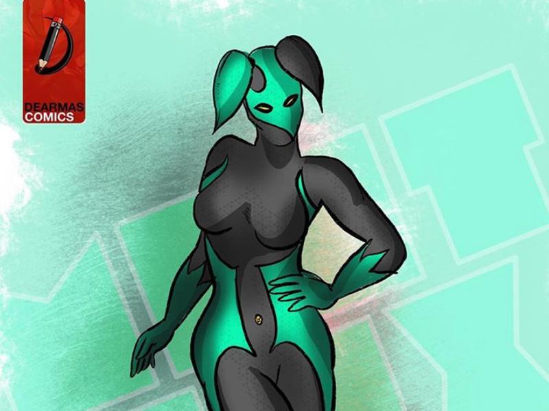 Mintlux, she's the human planet allied to Alienox comicbook alienox