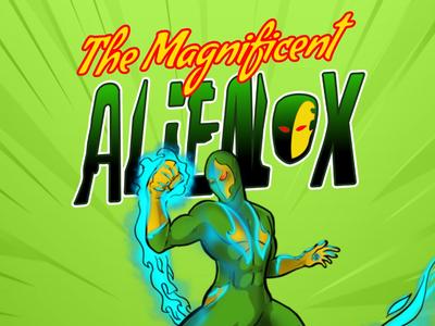 Promo flyer for Alienox