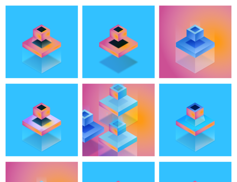 You are a box! figmadesign blue orange isometric web box design illustration isometric illustration isometric design isometric art isometry figma