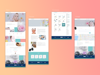 Ecommerce Cosmedika Day Spa brand design webdesign