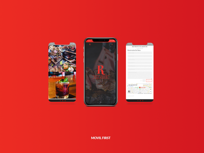 Sitio Web Red Room ux  ui mobile web webdesign