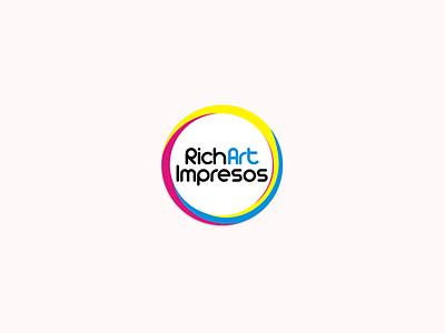 Logotipo RichArt Impresos logo design logotipo vector logo design graphicdesign branding brand design