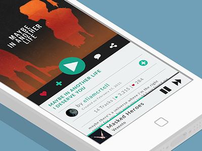 Music Player (#009) app design music player day 9 app music player 009 dailyui