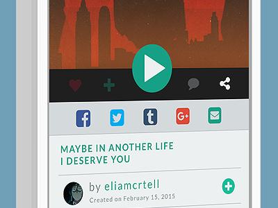 Social Share (#010) app design day 10 share social app 010 dailyui