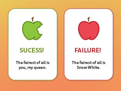 Snow White (#011) snow white flash message day 11 failure success apple 011 dailyui