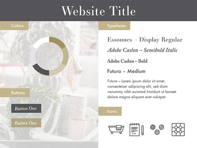 Web Style – Golden Slate Interior interior gray grey slate gold type brand colors stylesheet web