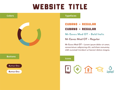 Web Style – Savannah Gold Charity icons african teal orange green yellow colors web type stylesheet brand