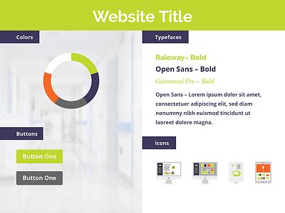 Web Style – Green Hospital colors icons orange brand purple green hospital web type stylesheet