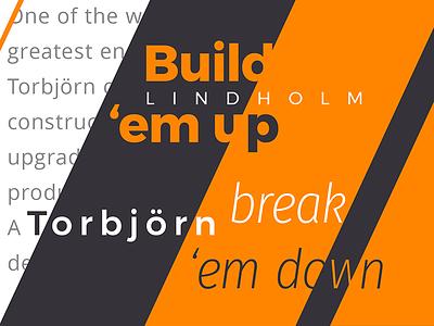 Construction Type & Color Test gray white navy orange open sans fira sans montserrat font typography type construction