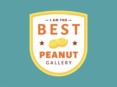 Best Peanut Gallery badge gold yellow orange best peanut gallery galley peanut
