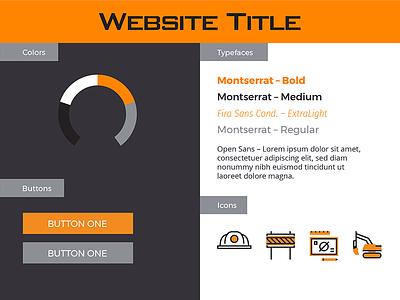Web Style – Orange Construction web stylesheet white type orange blue-grey navy gray construction