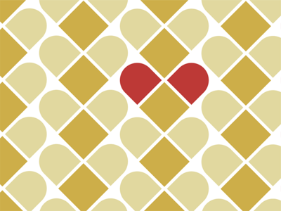 Heart Medica – Brand Pattern pattern gold red brand icons medical pill band-aid heart