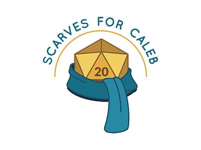 Scarves for Caleb dice blue teal gold dd dnd d20 scarves scarf