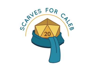 Scarves for Caleb dice blue teal gold dd dnd d20 scarves scarf