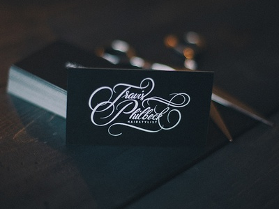Travis Philbeck Script / Business cards mamas sauce lettering typography script handdrawn business cards cards branding calligraphy flourishes