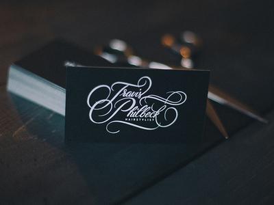 Travis Philbeck Script / Business cards