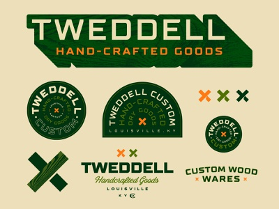 Tweddell | Handcrafted Goods x crafts craftwork wood type symbol mark badge lettering typography branding logo