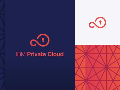 IBM Private Cloud seamless pattern private keyhole key branding logo infinity cloud ibm