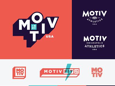 Motiv Fitness | Branding v2 motive fit indianapolis indy athletics m mark logo branding gym fitness