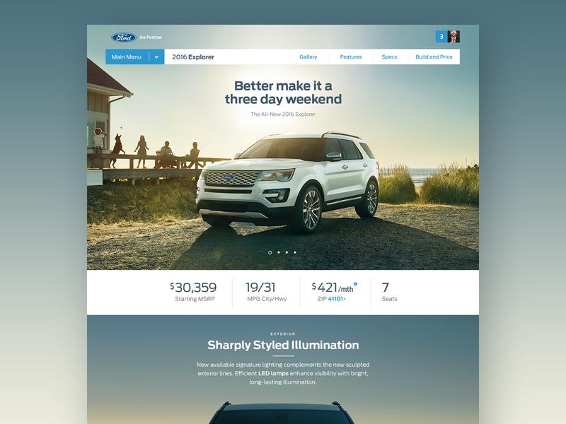 Ford.com | Global Redesign ux vehicle automotive car detroit website web ui ford