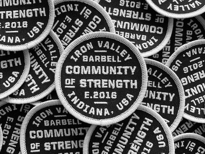 Community of Strength | Patch badge patch fitness gym indianapolis indiana